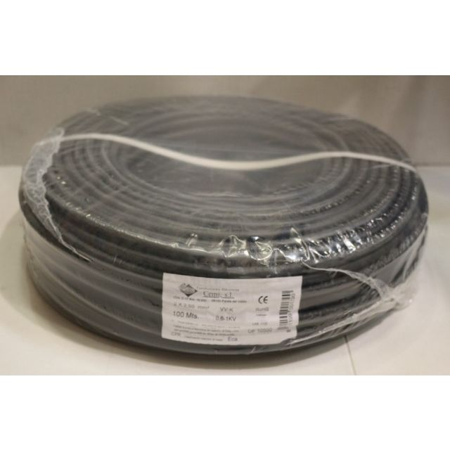 CABLE ELEC 2X2,5MM MANG NIVEL NE RDO 1000V MA2025,10 100 MT