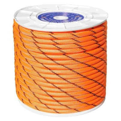 CUERDA NYLON DOBLE TRENZA ESCALADA 14MM NJA/NEG CARRETE 100M