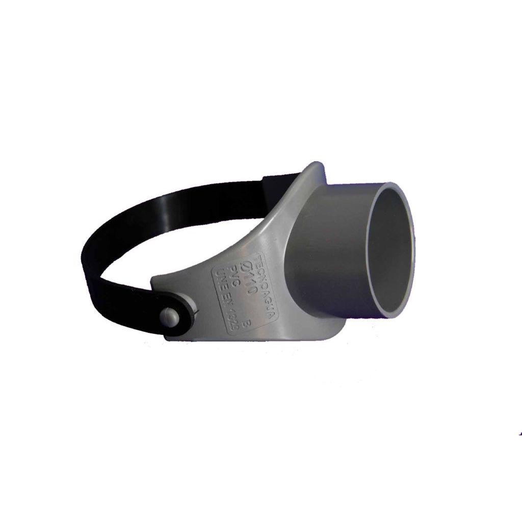 INJERTO ABRAZADERA ELASTICA PVC EVACUACION Ø 110-50